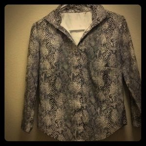 Tops - Vintage Snake Print Buttonup Blouse From Contempo
